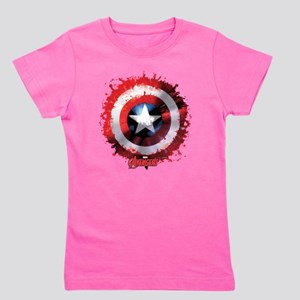 Cap Shield Spattered Girl's Tee