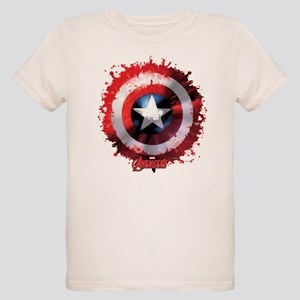 Cap Shield Spattered Organic Kids T-Shirt