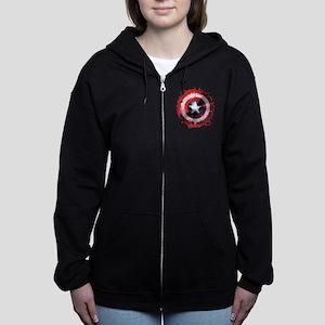Cap Shield Spattered Women's Zip Hoodie