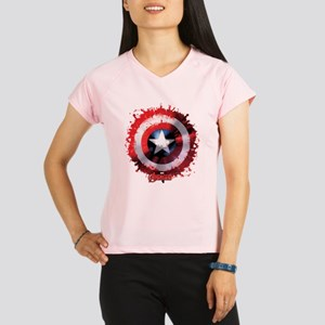 Cap Shield Spattered Performance Dry T-Shirt