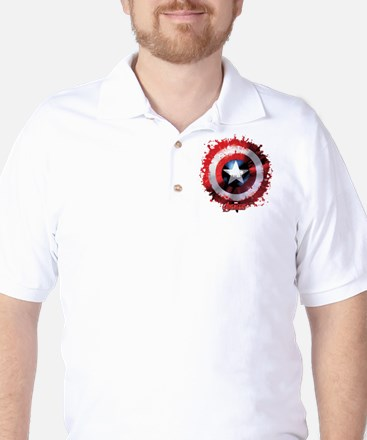 Cap Shield Spattered Golf Shirt