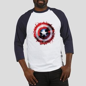 Cap Shield Spattered Baseball Jersey