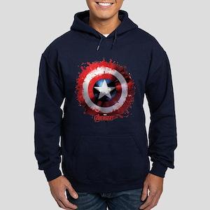Cap Shield Spattered Hoodie (dark)