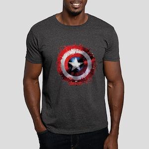 Cap Shield Spattered Dark T-Shirt
