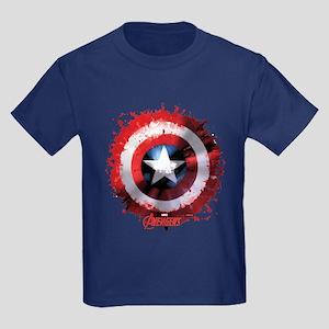 Cap Shield Spattered Kids Dark T-Shirt