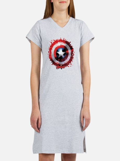 Cap Shield Spattered Women's Nightshirt