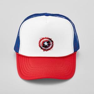 Cap Shield Spattered Trucker Hat