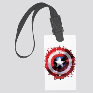 Cap Shield Spattered Large Luggage Tag