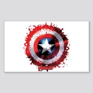 Cap Shield Spattered Sticker (Rectangle)