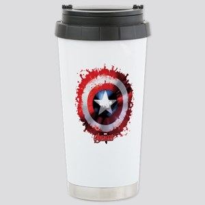 Cap Shield Spattered Stainless Steel Travel Mug