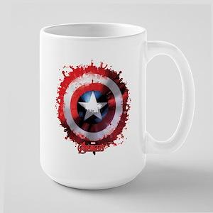 Cap Shield Spattered Large Mug