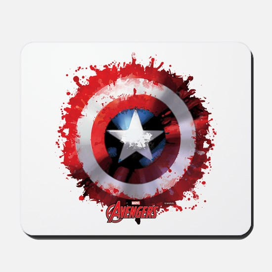 Cap Shield Spattered Mousepad