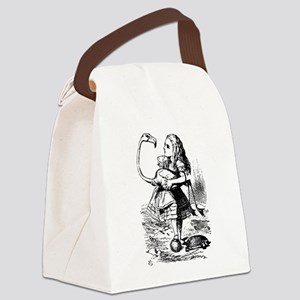 Alice with Flamingo Canvas Lunch Bag