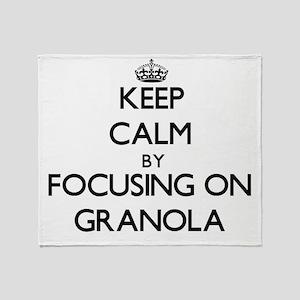 Keep Calm by focusing on Granola Throw Blanket