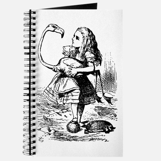 Alice with Flamingo Journal