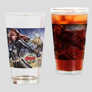Avengers Super Spy Black Widow Drinking Glass