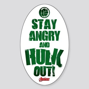 Stay Angry and Hulk Out Sticker (Oval)