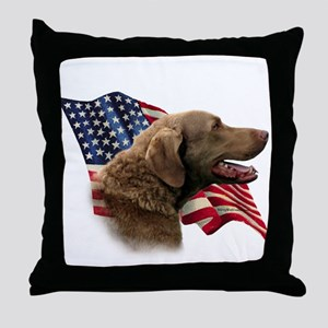 Chessie Flag Throw Pillow