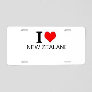 I Love New Zealand Aluminum License Plate