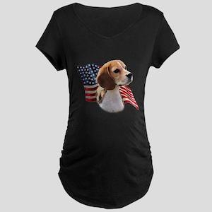 Beagle Flag Maternity Dark T-Shirt
