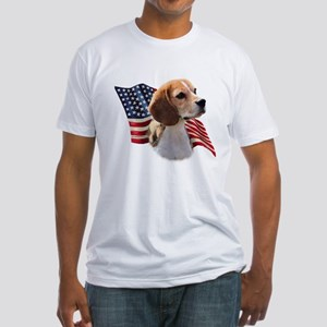 Beagle Flag Fitted T-Shirt