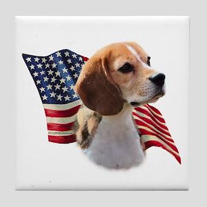 Beagle Flag Tile Coaster