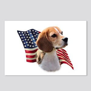 Beagle Flag Postcards (Package of 8)