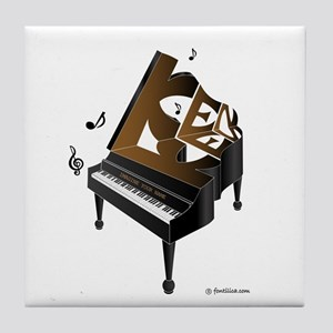 Ken grand piano 1 Tile Coaster