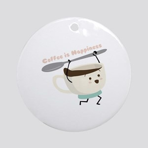 Coffee Is Happiness Ornament (Round)