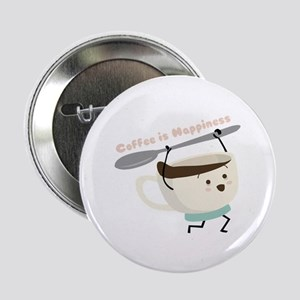 """Coffee Is Happiness 2.25"""" Button (10 pack)"""