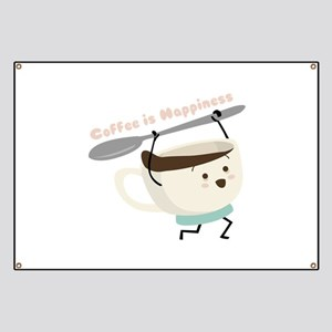 Coffee Is Happiness Banner