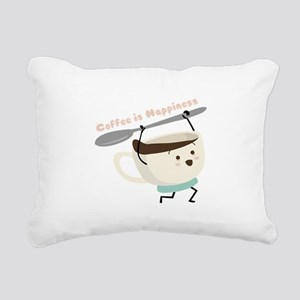 Coffee Is Happiness Rectangular Canvas Pillow