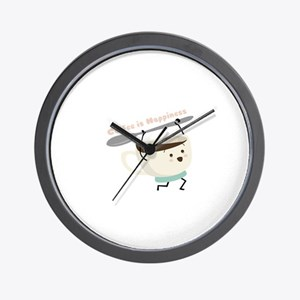Coffee Is Happiness Wall Clock