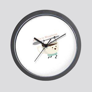 Coffee Is Happiness Wall Clock