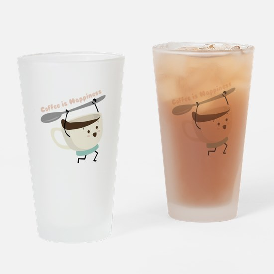 Coffee Is Happiness Drinking Glass