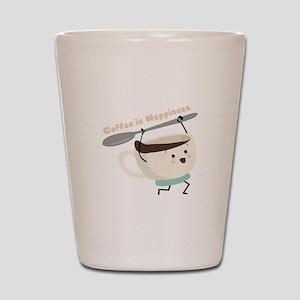 Coffee Is Happiness Shot Glass