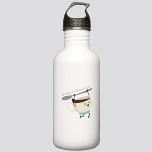Coffee Is Happiness Water Bottle