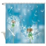 Dandelions And Dragonflies Shower Curtain