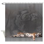 Geometric Tiger Shower Curtain