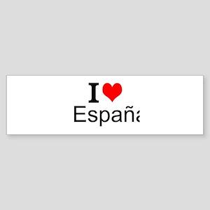 I Love España Bumper Sticker