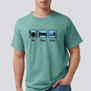 Eat Sleep Swim Mens Comfort Colors Shirt