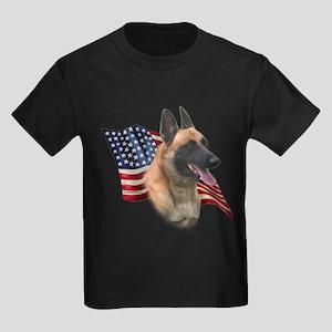 Malinois Flag Kids Dark T-Shirt