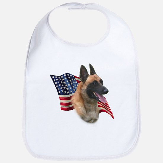 Malinois Flag Bib