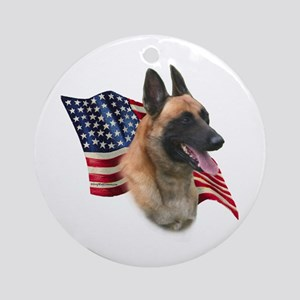 Malinois Flag Ornament (Round)