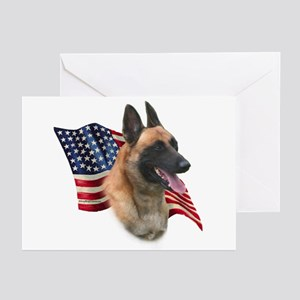 Malinois Flag Greeting Cards (Pk of 10)