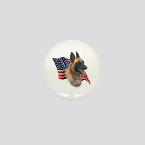 Malinois Flag Mini Button