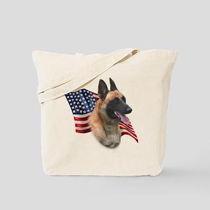Malinois Flag Tote Bag
