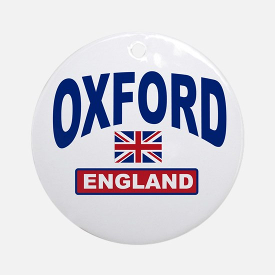 Oxford England Ornament (Round)