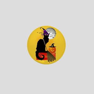 Le Chat Noir - Halloween Witch Mini Button