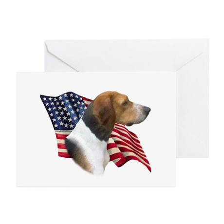 Am Foxhound Flag Greeting Cards (Pk of 10)